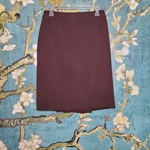 Dressbarn pencil skirt, Brown, Size 4